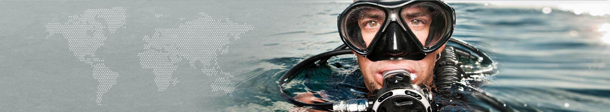 Taucher im Wasser
